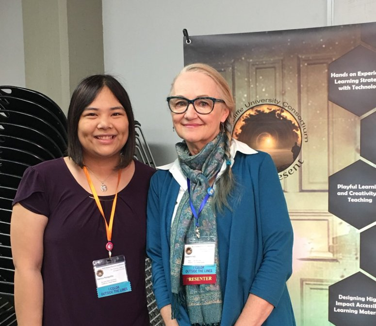 Danica Ronquillo (San Jose State University, School of Information student) and Valerie Hill (CVL Director) at RUCC18